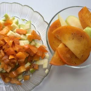Запеканка с хурмой и яблоками (6)