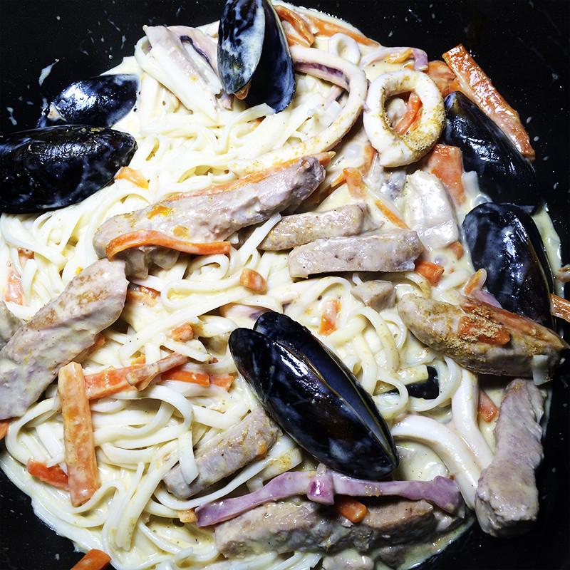 Удон с морепродуктами (21к)