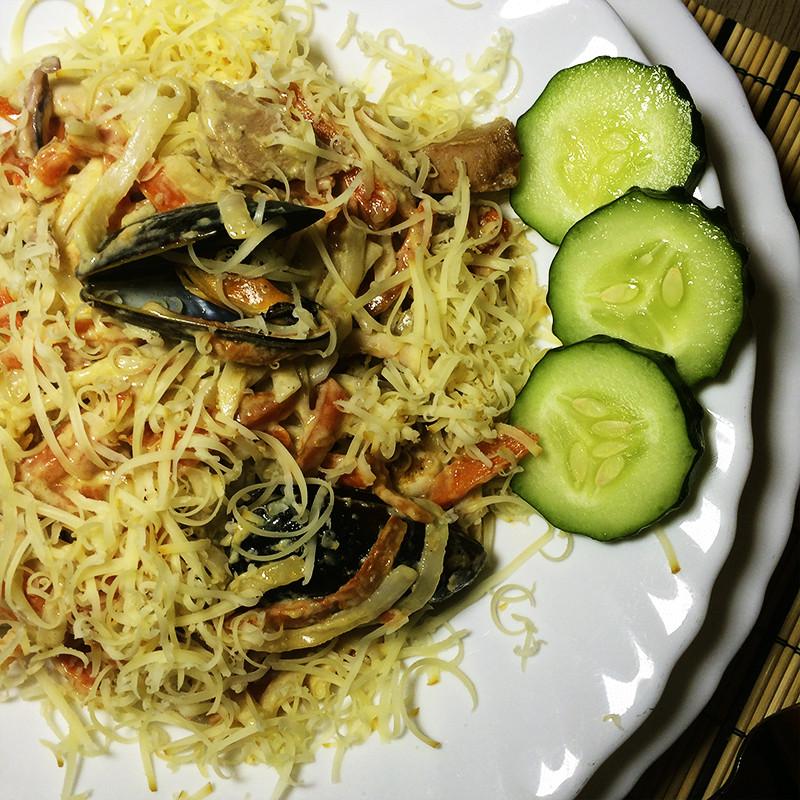 Удон с морепродуктами (28к)