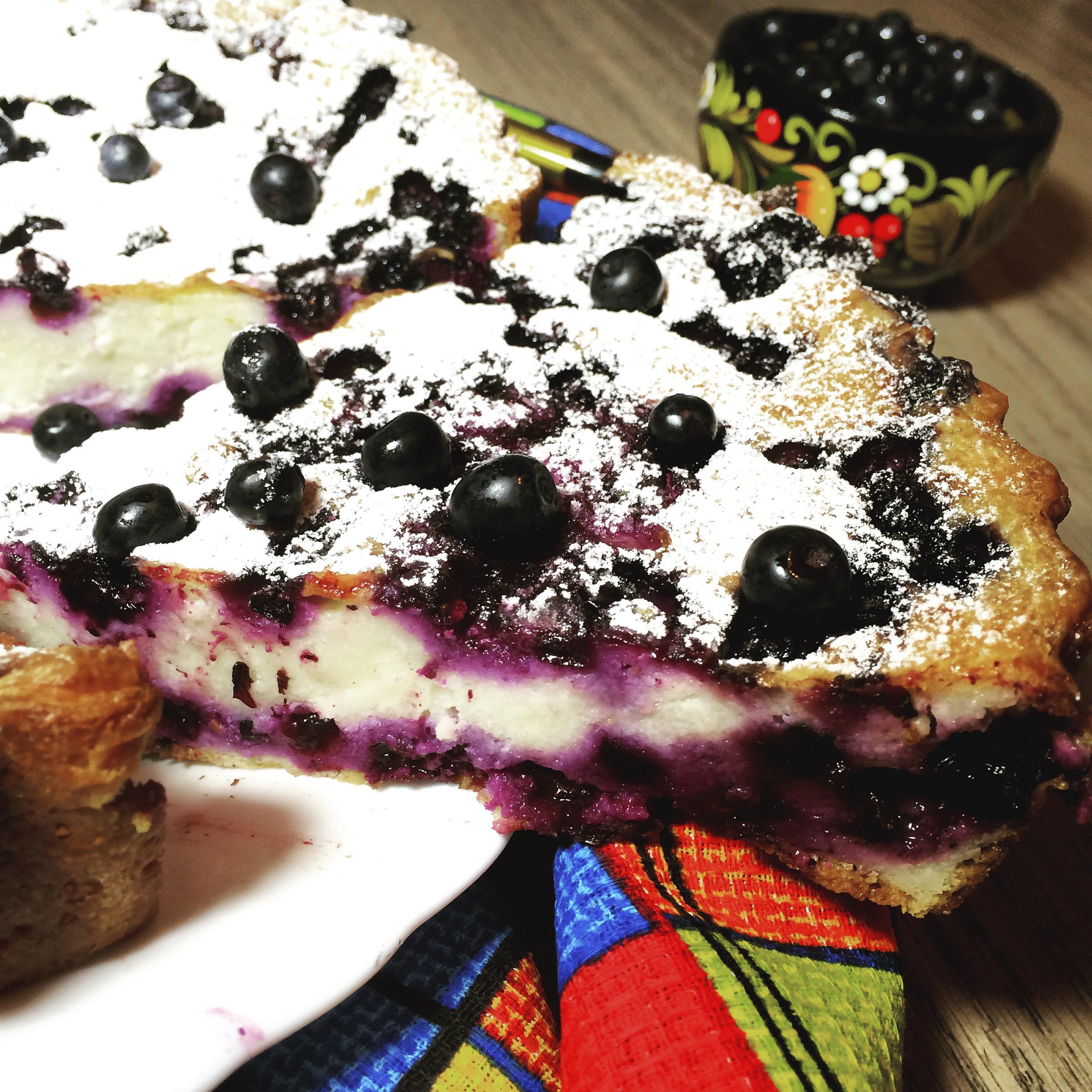 Творожная запеканка с ягодами рецепт с фото