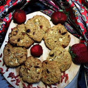 Фитнес-печенье с годжи и яблоком 3