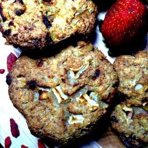 Фитнес-печенье с годжи и яблоком 4