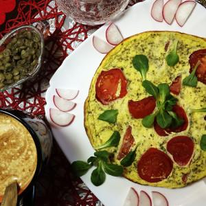 Фриттата с сочным томатом 1