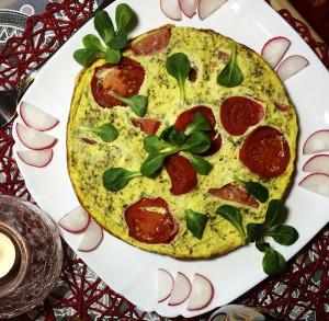 Фриттата с сочным томатом 4