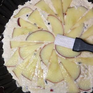 Творожная запеканка с яблоком и барбарисом 12