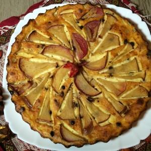 Творожная запеканка с яблоком и барбарисом 13