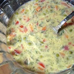 Фриттата с паприкой и зеленым горошком 06
