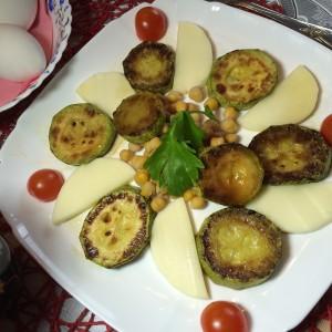 Завтрак: кабачки и нут