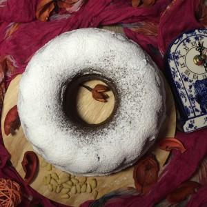 Вишнево-ореховый кекс