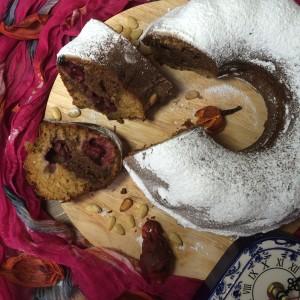 Вишнево-ореховый кекс 7