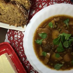 Вегетарианский суп с лесными грибами