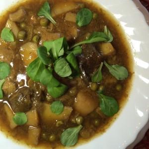 Вегетарианский суп с лесными грибами 1