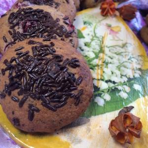 Овсяное печенье с клюквой и маком