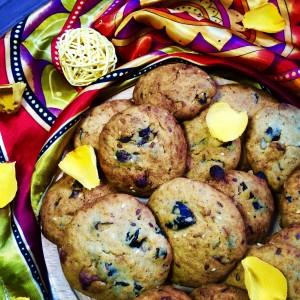 Печенье с халвой и черносливом