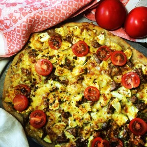 Пицца с лесными грибами