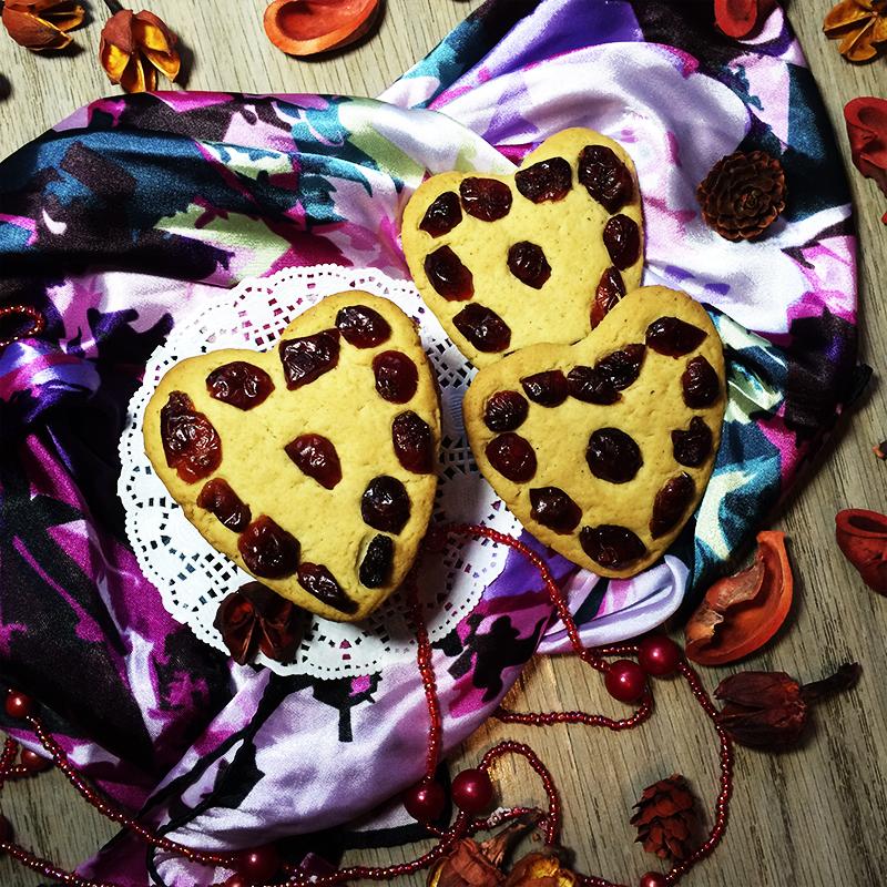 Имбирное печенье с вяленой клюквой (18к)