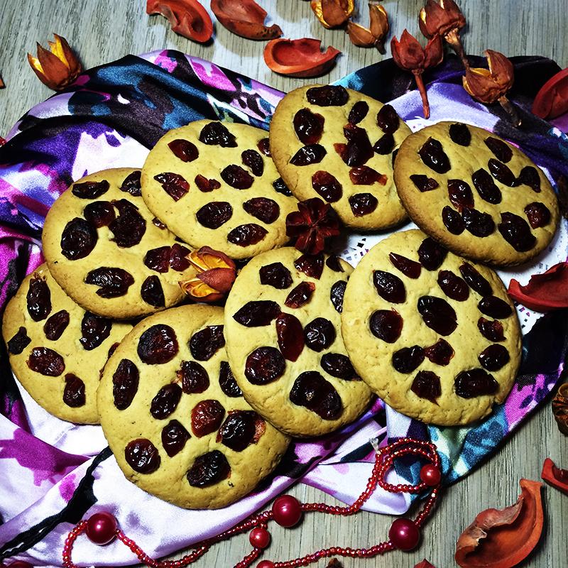 Имбирное печенье с вяленой клюквой (28к)