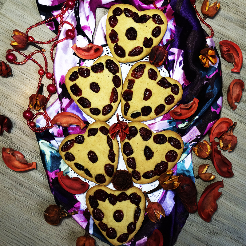 Имбирное печенье с вяленой клюквой (43к)