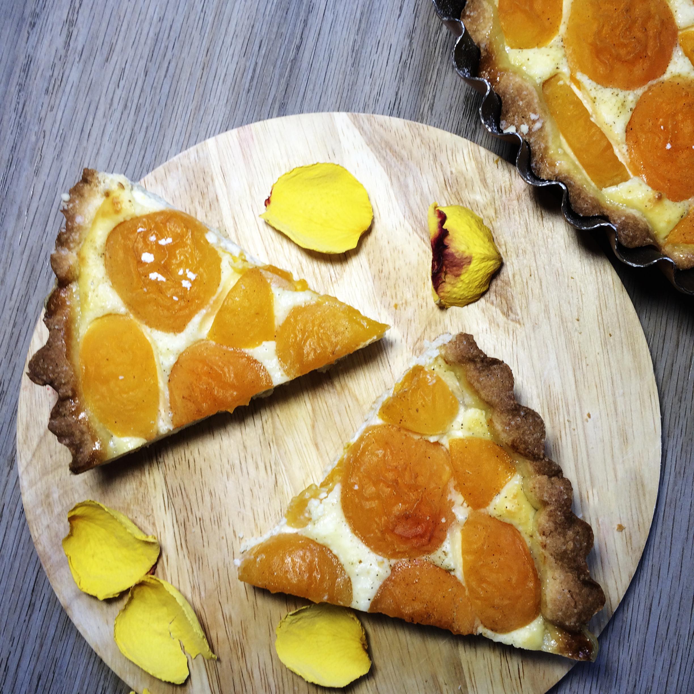 Пирог с творожной начинкой и абрикосами рецепт