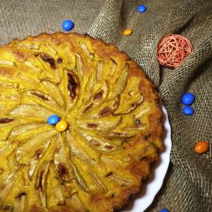 Морковный пирог с яблоком и изюмом 4