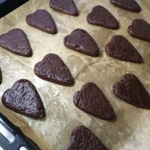 Печенье шоколадное сердце (10)