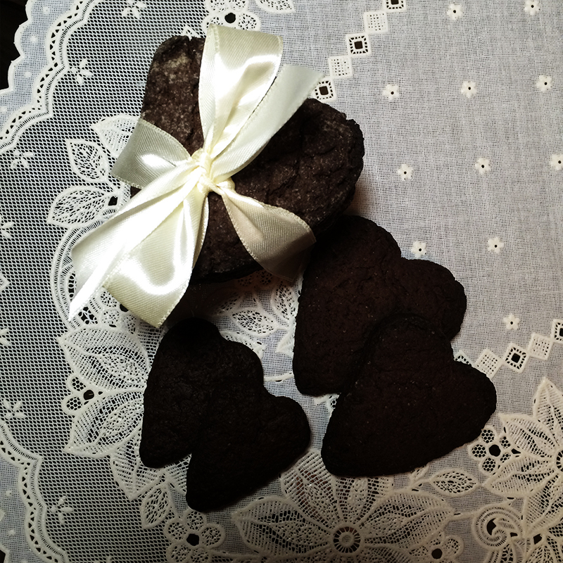 Печенье шоколадное сердце (13к)