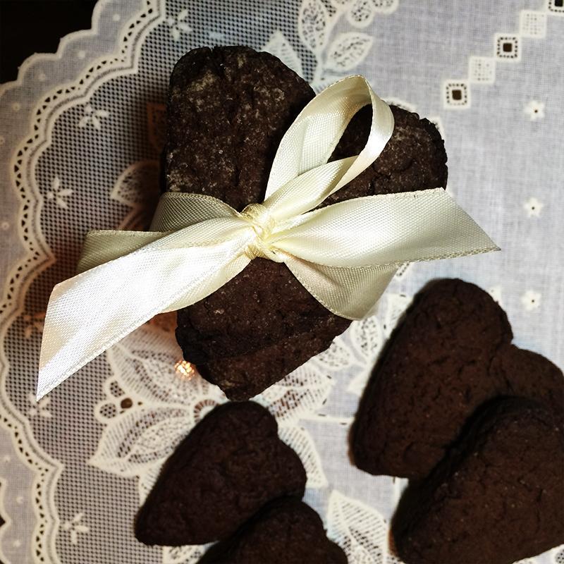 Печенье шоколадное сердце (19к)
