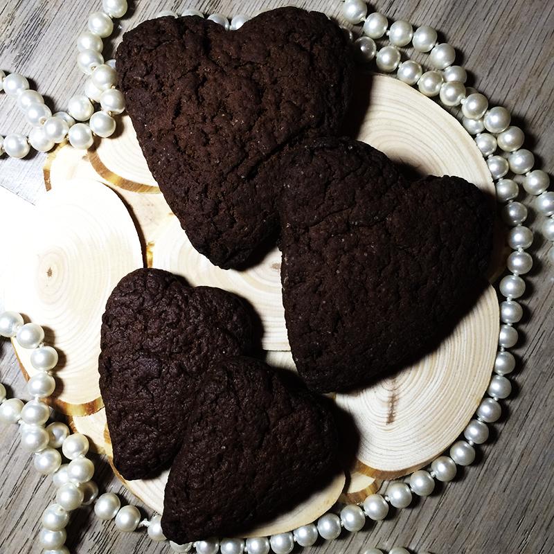 Печенье шоколадное сердце (22к)