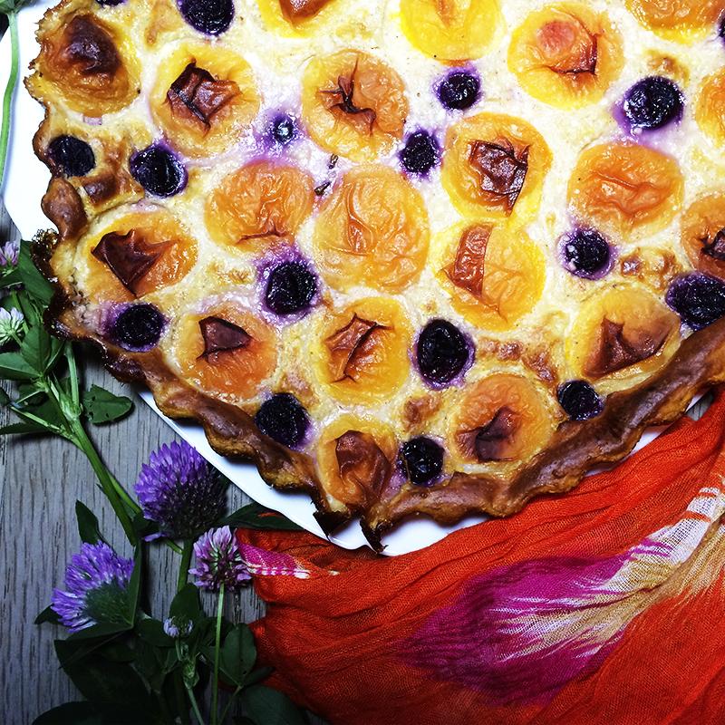 Творожная запеканка с абрикосами 2