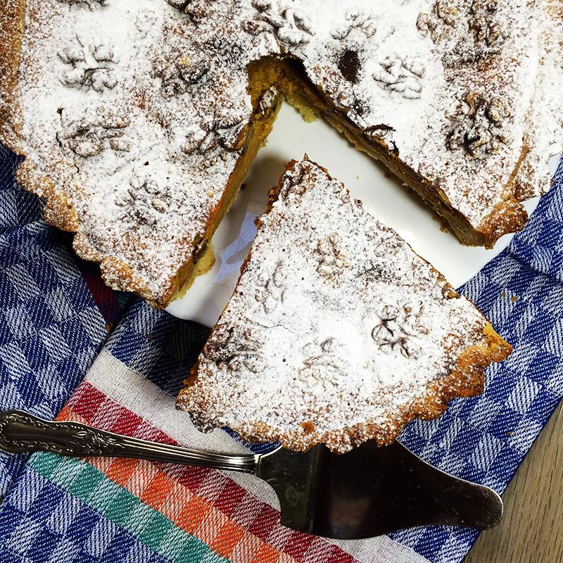 Тыквенный пирог с орехами (1к)