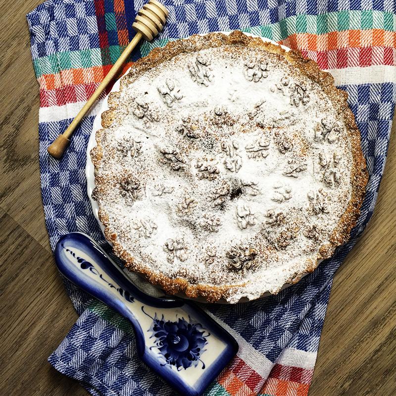 Тыквенный пирог с орехами (33к)