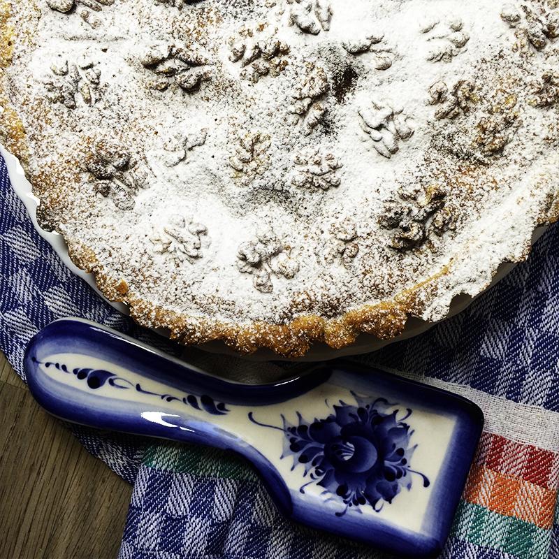 Тыквенный пирог с орехами (35к)
